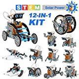OFUN Roboter solar Kinder Bausatz Lernspielzeug 12 in 1, STEM Spielzeug Konstruktion Bauset mit...