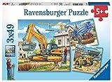 Ravensburger Kinderpuzzle 09226 - Große Baufahrzeuge - 3 x 49 Teile