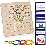 Ulikey Holz Geoboard Spielzeug Set Geometriebrett Montessori Peg Board Form Anerkennungs Geschenk...