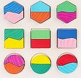 Demarkt Form Puzzle Holzpuzzle Holz Formenpuzzle Kinder Steckpuzzle Farbenpuzzle Pädagogisches...