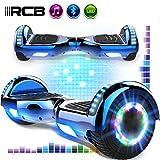 RCB Hoverboards 6,5 Zoll Elektro Skateboard für Kinder und Jugendliche Elektroroller mit Bluetooth...