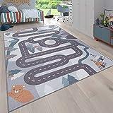 Paco Home Kinder-Teppich, Spiel-Teppich Für Kinderzimmer Straßen-Design Mit Tieren Beige,...