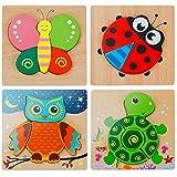 EXTSUD 3D Kinder Holzpuzzle Steckpuzzle Holz Montessori Spielzeug Lernspielzeug Pädagogisches...