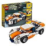 LEGO 31089 Creator Rennwagen, Speedboot oder klassischer Rennwagen, 3-in-1 Bauset, Fahrzeuge für...