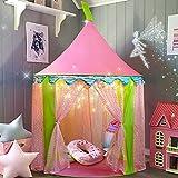 Tiny Land Spielzelt für Kinder mit Sternenlichtern - Glitzer Castle Kinderzimmer mit Tragetasche -...