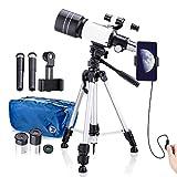Teleskop Kinder, 70mm Teleskop Astronomisches für Kinder und Einsteiger, 15x-150x Refraktor...