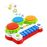 NextX Babyspielzeug Klavier und Trommel Musikspielzeug mit Lichter Geschenk für Baby und...