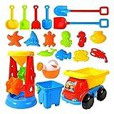 Kinder 20 Stück Strand Sandspielzeug Set, Sand Tisch Sand spielen mit Sandkasten Spielzeug,...