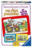 Ravensburger Kinderpuzzle - 06573 Bagger, Traktor und Kipplader - my first puzzle mit 3x6 Teilen -...
