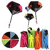Afufu Fallschirmspringer Spielzeug, 4 Stück Kinder Hand Werfen Fallschirm Fallschirmspringer Wurf...