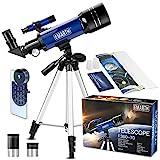 Teleskop für Kinder und Einsteiger für Beobachtung von Himmel und Landschaft- 70mm fernrohr...