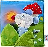 HABA 304211 - Stoffbuch Gute Nacht, viel Erzählspaß für Babys ab 6 Monaten, inklusive Maus als...