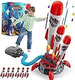 Lehoo Castle Druckluftrakete Kinder, Rakete Spielzeug mit 6 Schaumraketen, Geschenk Junge 7 Jahre,...