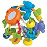 Playgro Motorikschleifen-Ball, Ab 6 Monaten, Play and Learn Ball, Blau/Grün/Gelb, 40137