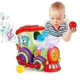 VATOS Baby Spielzeug Eisenbahn Zug - Elektrischer Musikzug mit bewegenden Farbbällen - fährt...