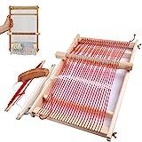 BangShou Webrahmen Holz Webstuhl Set für Kindern und Erwachsene Schulwebrahmen Holzwebrahmen mit...