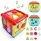 LBLA Musikspielzeug Baby Spielzeug 1 Jahr 2 Jahren Junge Mädchen,Lernspielzeug,Entdeckerwürfel mit...