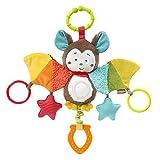 Fehn 067712 Activity-Spieltier Fledermaus – Motorikspielzeug zum Aufhängen mit Spiegel & Ringen...