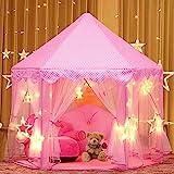 joylink Kinderspielzelt, Prinzessin Castle Spielzelt für Kinder mit Sternen,53 '' x 55 '' (DxH) (A)...