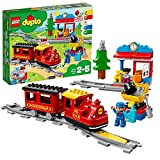LEGO 10874 DUPLO Dampfeisenbahn, Spielzeugeisenbahn mit Licht & Geräuschen und batteriebetriebenem...