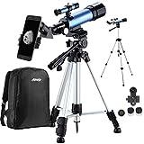 Aomekie Teleskop Kinder Einsteiger 50/360 Fernrohr Teleskop mit 10X Smartphone Adapter Stativ Tasche...