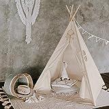 Tipi Dreamin® Spielzelt für Kinder mit Matte, Tragetasche - Perfekt für Kinderzimmer, Drinnen und...