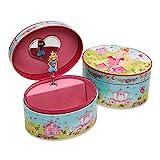 """Lucy Locket """"Prinzessinnen"""" Ovales Schmuckkästchen mit Spieluhr – Glitzerndes Kinder..."""