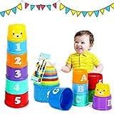 Stapelbare Becher Baby, Stapel Tasse Spielzeug, Klassisches Stapelspielzeug, Stapelbare Bunte...