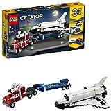 LEGO 31091 Creator Transporter für Space Shuttle, Helikopter-Transporter oder Auto mit Wohnwagen,...