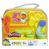 Play-Doh Starter Set mit 9 Werkzeugen und 4 Dosen Knete, Kreativset für unterwegs