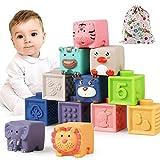 Bauklötze für Babys ab 6 9 12 Monate 1 2 3 4 Jahre, Luclay Kleinkinder Weiche Bausteine...