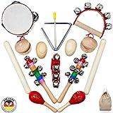 SCHMETTERLINE® Musikinstrumente-Set für Kinder aus Holz - 15 TLG. Musik-Spielzeug mit Premium...