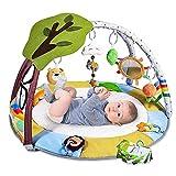 Krabbeldecke für Baby mit 9 Spielzeug, Lup Spieldecke mit Spielbogen für Sensorische und...