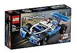 LEGO 42091 Technic Polizei-Verfolgungsjagd, Spielzeugauto mit Rückziehmotor, Bauset für Jungen und...
