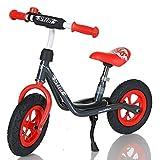 LCP Kids Laufrad Roller für Kinder ab 2 Jahren Luftreifen Ständer, Grau