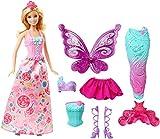 Barbie DHC39 - Dreamtopia 3-in-1 Fantasie Puppe, Fee, Meerjungfrau und Prinzessin, Geschenk Set mit...