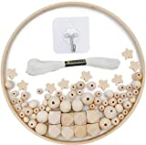 DIY Holz Mobilen Rahmen Windspiel Bettglocke Kit, Natürliche Handwerk Holzperlen Wind Glockenspiel,...