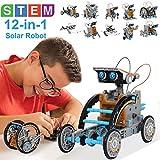 STEM Spielzeugen Solarroboter Kit 12 in-1-Sets Wissenschaft Lernwissenschaftliches Bauspielzeug von...