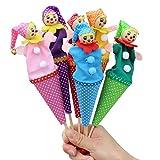 TOYMYTOY 6 stück Tütenkasper Tüten Puppen mit Glocken Kasperlfigur Fingerpuppen Kinder Baby...