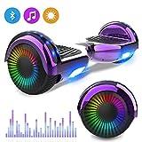 RCB Hoverboards Kinder 6,5', Sagway Skateboard mit Bluetooth - LED Flash - Motor Blinkt, Spielzeug...