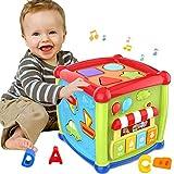 ATCRINICT Baby Aktivität Würfel Spielzeug für 1 Jahre altes Baby Spielzeug 6 12 Monate Musik und...