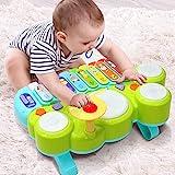 Ohuhu Babyspielzeug Klavier und Trommel Musikspielzeug für Baby und Kleinkinder, Spielen...