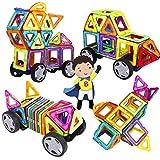 INTEY 32 Stück Magnetische Bausteine DIY Kreativität bestehen aus 98 reinen Magnetbausteine...