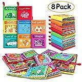 RenFox 8 Stücke Stoffbuch für Babys, Baby Soft Bilderbuch Tuchbuch Badebuch Babybuch Stoffbuch...