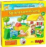 HABA 304223 - Meine ersten Spiele – Spielesammlung, 10 erste Spiele auf dem Bauernhof für 1-3...