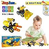 Joy-Jam STEM Spielzeug für Junge ab 5 Jahren Bausteine Konstruktionsspielzeug Forsttraktor...