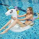 JCT Aufblasbare Einhorn Pool Float Einhorn Floats Schwimmring Pool Schwimmen Ring Schwimmreifen...