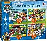 Ravensburger 06936 Paw Patrol 4 Puzzle 12/16/20/24 Teile a box-12/16/20/24, Einheitsgröße
