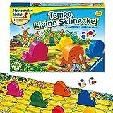 Ravensburger Kinderspiel 21420 - Tempo kleine Schnecke - Das spannende Schneckenrennen, Brettspiel...