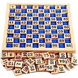 Montessori Mathematik Puzzle Spielzeug aus Holz zum Zahlen Lernen mit Zahlenfeldern und Ziffern,...